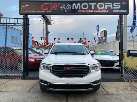 2018 GMC Acadia for sale at GW MOTORS in Newark NJ