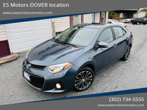 2015 Toyota Corolla for sale at ES Motors-DAGSBORO location - Dover in Dover DE