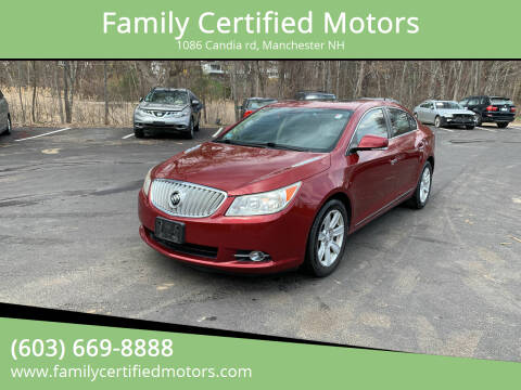 2010 Buick LaCrosse for sale at Family Certified Motors in Manchester NH