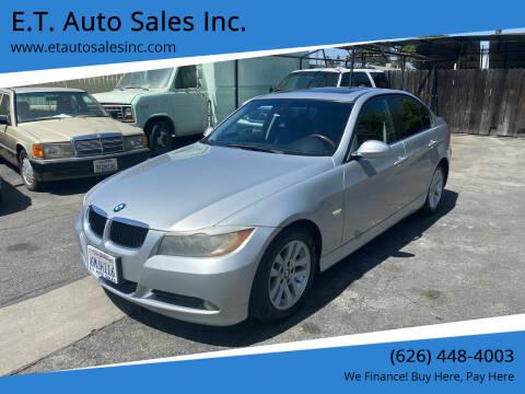 2007 BMW 3 Series for sale at E.T. Auto Sales Inc. in El Monte CA