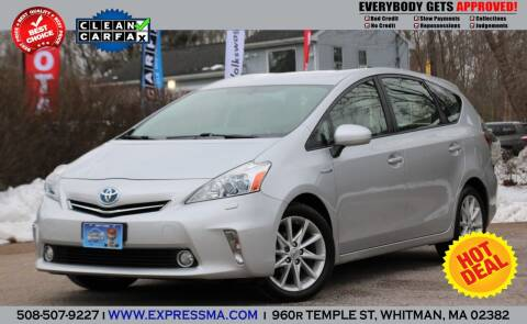 2013 Toyota Prius v for sale at Auto Sales Express in Whitman MA