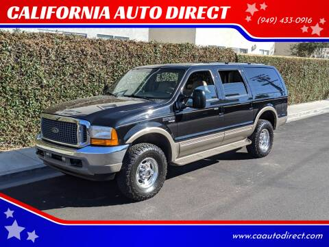 2001 Ford Excursion for sale at CALIFORNIA AUTO DIRECT in Costa Mesa CA