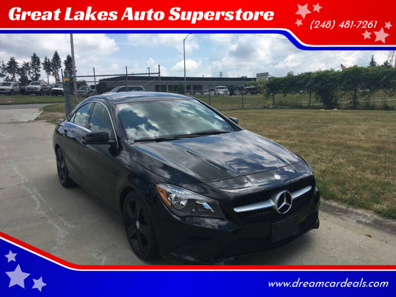 2016 Mercedes-Benz CLA for sale at Great Lakes Auto Superstore in Pontiac MI