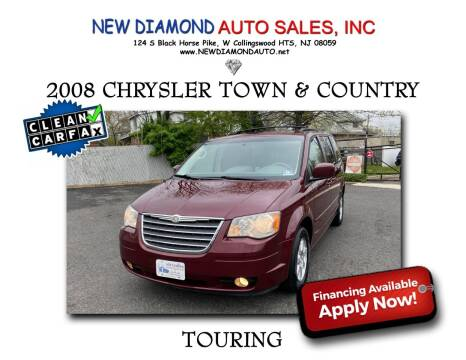 2008 Chrysler Town and Country for sale at New Diamond Auto Sales, INC in West Collingswood NJ