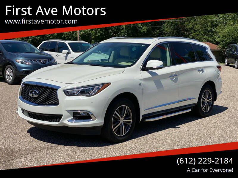 2017 Infiniti QX60 for sale at First Ave Motors in Shakopee MN