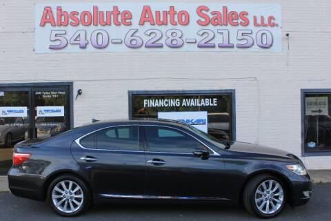 2011 Lexus LS 460 for sale at Absolute Auto Sales in Fredericksburg VA