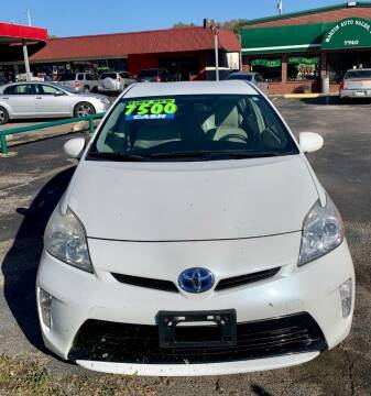 2012 Toyota Prius for sale at MARTIN AUTO SALES INC in Millington TN