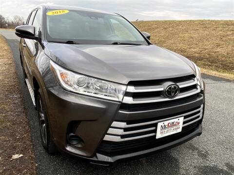 2018 Toyota Highlander for sale at Mr. Car City in Brentwood MD