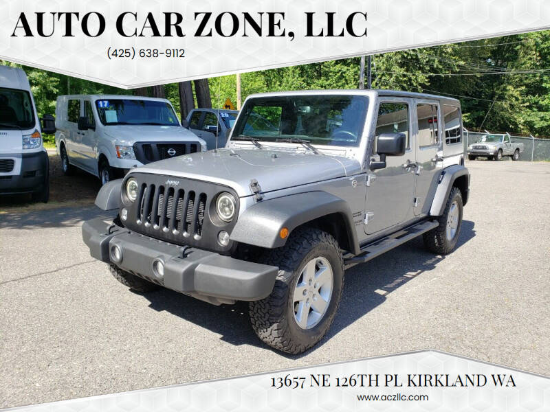 2016 Jeep Wrangler Unlimited for sale at Auto Car Zone, LLC in Kirkland WA