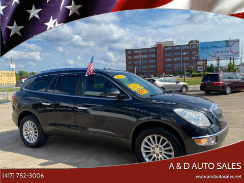 2011 Buick Enclave for sale at A & D Auto Sales in Joplin MO