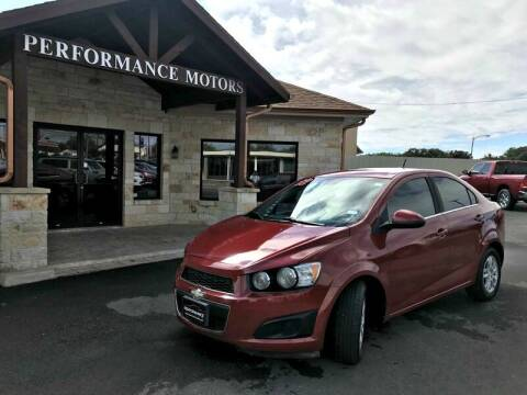 2012 Chevrolet Sonic for sale at Performance Motors Killeen Second Chance in Killeen TX