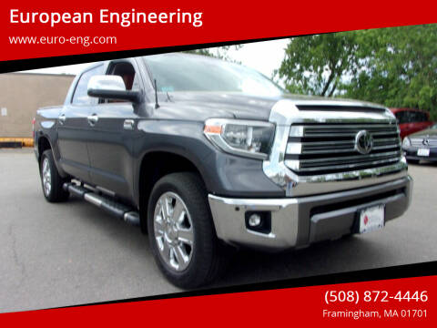 2018 Toyota Tundra for sale at European Engineering in Framingham MA