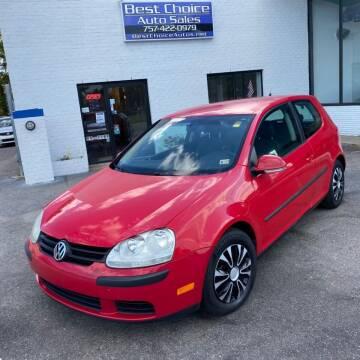 2008 Volkswagen Rabbit for sale at Best Choice Auto Sales in Virginia Beach VA