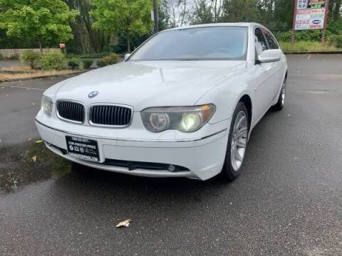 2003 BMW 7 Series for sale at CAR MASTER PROS AUTO SALES in Lynnwood WA