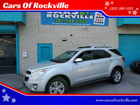 2013 Chevrolet Equinox for sale at Cars Of Rockville in Rockville MD