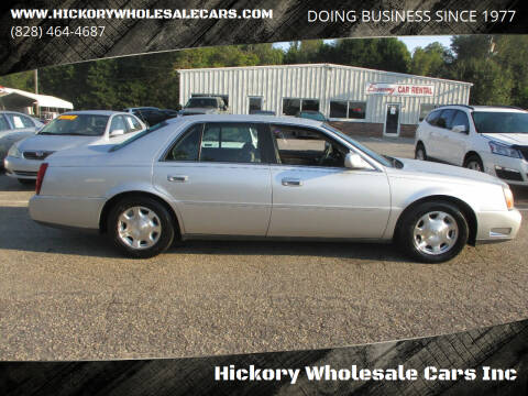2002 Cadillac DeVille for sale at Hickory Wholesale Cars Inc in Newton NC