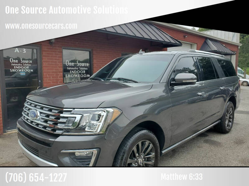 2019 Ford Expedition MAX for sale at One Source Automotive Solutions in Braselton GA