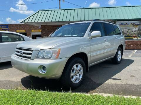 2003 Toyota Highlander for sale at Main Street Auto LLC in King NC