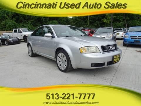 2000 Audi A6 for sale at Cincinnati Used Auto Sales in Cincinnati OH
