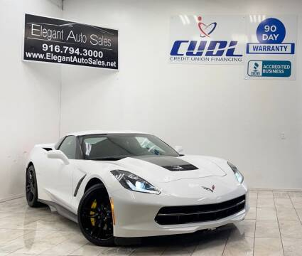 2016 Chevrolet Corvette for sale at Elegant Auto Sales in Rancho Cordova CA