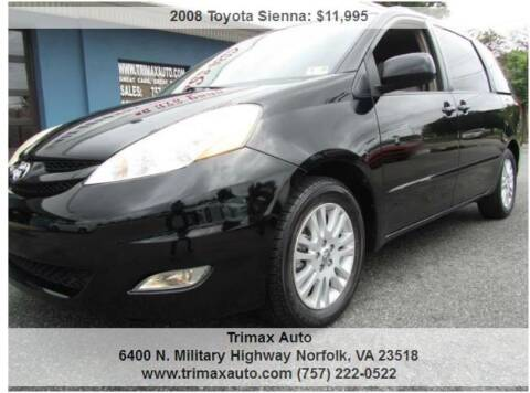 2008 Toyota Sienna for sale at Trimax Auto Group in Norfolk VA