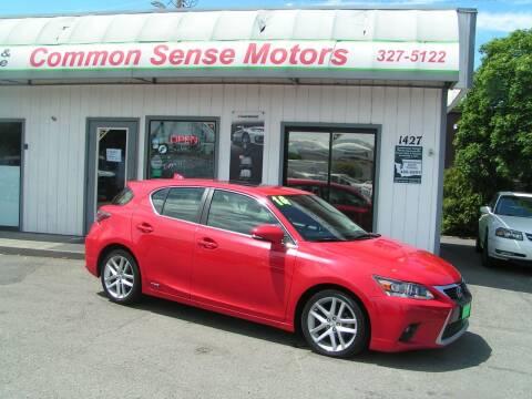 2014 Lexus CT 200h for sale at Common Sense Motors in Spokane WA