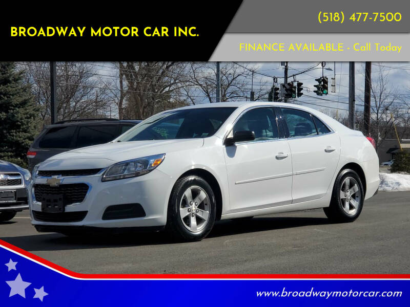 2014 Chevrolet Malibu for sale at Broadway Motor Car Inc. in Rensselaer NY