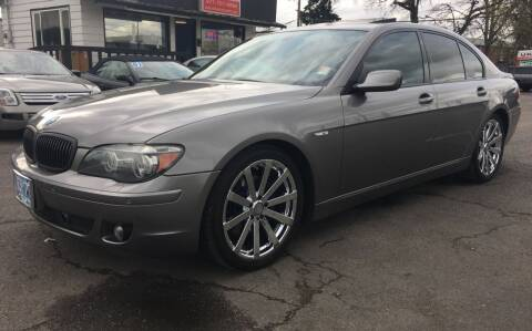 2008 BMW 7 Series for sale at Universal Auto INC in Salem OR