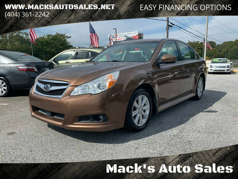 2011 Subaru Legacy for sale at Mack's Auto Sales in Forest Park GA