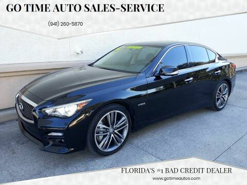 2014 Infiniti Q50 Hybrid for sale at Go Time Automotive in Sarasota FL