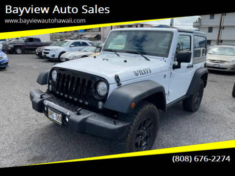 2018 Jeep Wrangler JK for sale at Bayview Auto Sales in Waipahu HI
