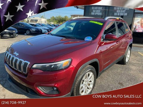 2019 Jeep Cherokee for sale at Cow Boys Auto Sales LLC in Garland TX
