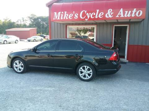 2012 Ford Fusion for sale at MIKE'S CYCLE & AUTO in Connersville IN