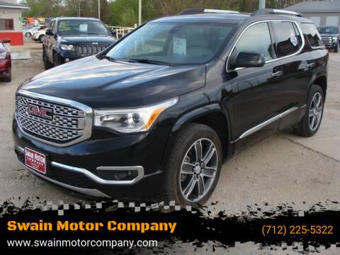 2018 GMC Acadia for sale at Swain Motor Company in Cherokee IA