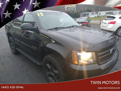 2013 Chevrolet Tahoe for sale at TWIN MOTORS in Madison OH