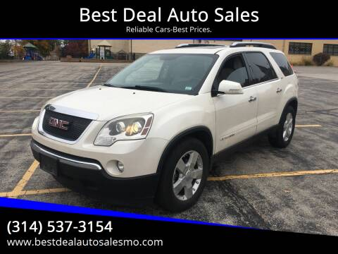 2008 GMC Acadia for sale at Best Deal Auto Sales in Saint Charles MO