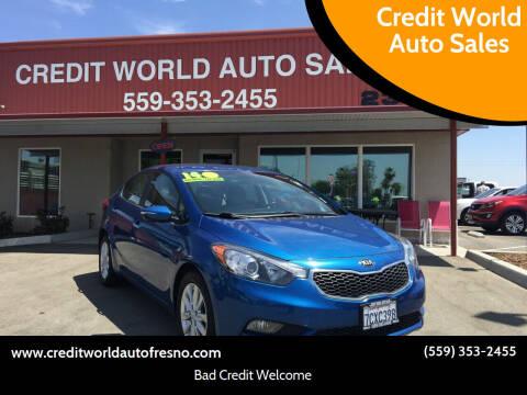 2014 Kia Forte for sale at Credit World Auto Sales in Fresno CA