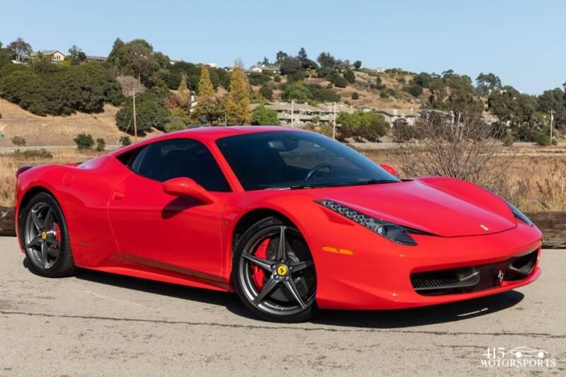 2013 Ferrari 458 Italia for sale at 415 Motorsports in San Rafael CA