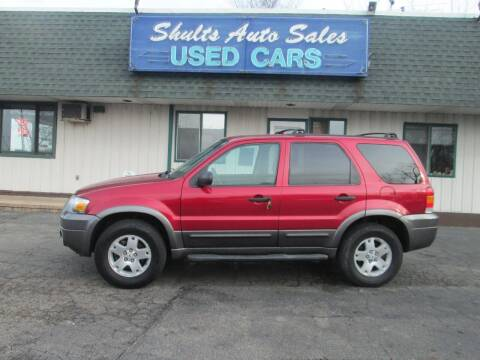 2006 Ford Escape for sale at SHULTS AUTO SALES INC. in Crystal Lake IL