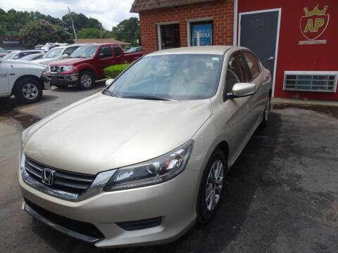 2013 Honda Accord for sale at AP Automotive in Cary NC