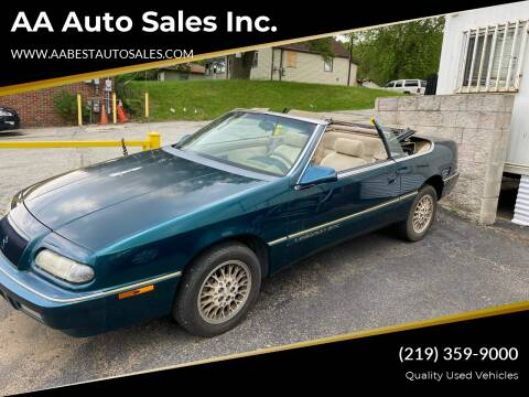 1994 Chrysler Le Baron for sale at AA Auto Sales Inc. in Gary IN