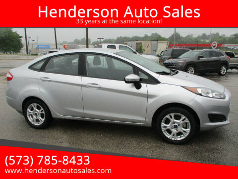 2016 Ford Fiesta for sale at Henderson Auto Sales in Poplar Bluff MO