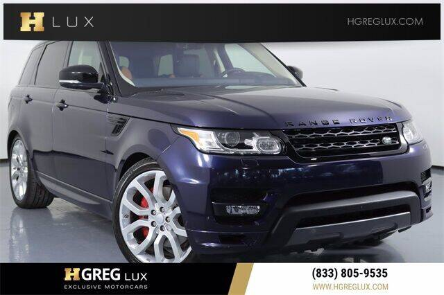 2017 Land Rover Range Rover Sport for sale at HGREG LUX EXCLUSIVE MOTORCARS in Pompano Beach FL