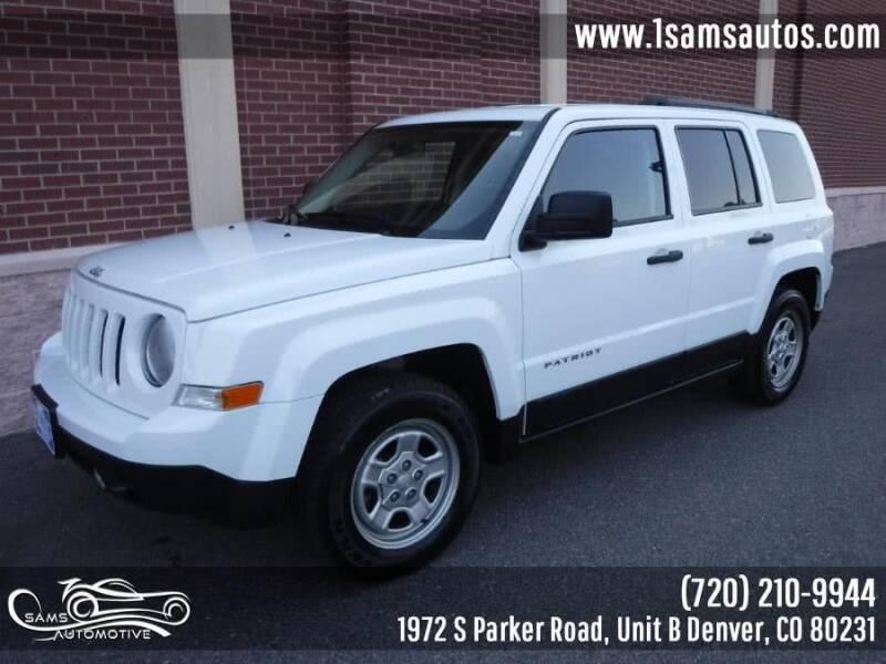 2016 Jeep Patriot for sale at SAM'S AUTOMOTIVE in Denver CO