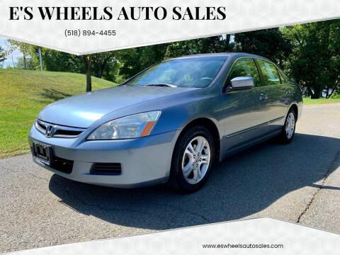 2007 Honda Accord for sale at E's Wheels Auto Sales in Hudson Falls NY