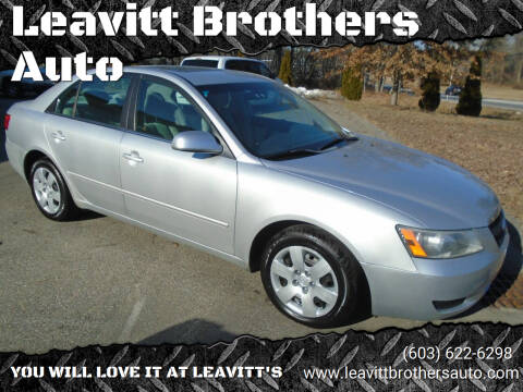 2008 Hyundai Sonata for sale at Leavitt Brothers Auto in Hooksett NH