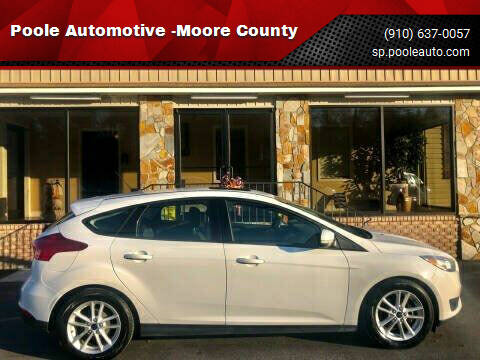 2015 Ford Focus for sale at Poole Automotive -Moore County in Aberdeen NC