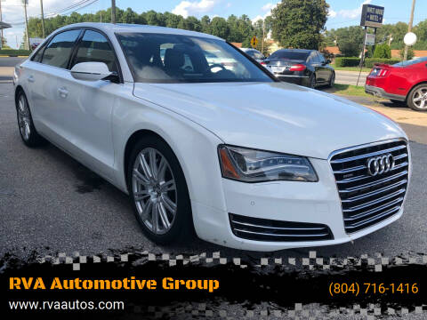2013 Audi A8 L for sale at RVA Automotive Group in North Chesterfield VA