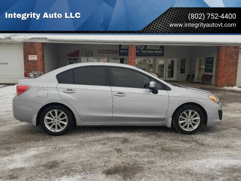 2014 Subaru Impreza for sale at Integrity Auto LLC - Integrity Auto 2.0 in St. Albans VT