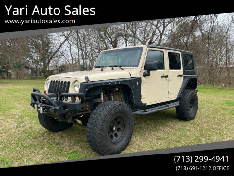 2011 Jeep Wrangler Unlimited for sale at Yari Auto Sales in Houston TX